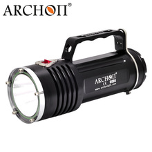 ARCHON DG90 Rechargeable Underwater Dive Torch Cree SST-90 2200lm 200M Waterproof Handle Diving Light with 6 X 18650 Battery archon dg150w wg156w diving flashlight 10000lm rechargeable dive light underwater photography torch with battery pack