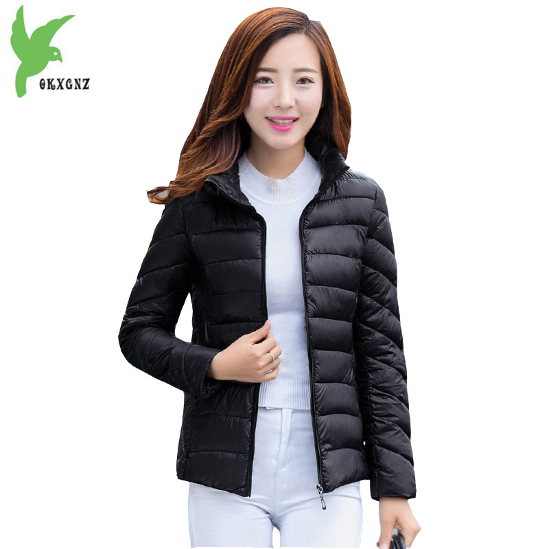 New Winter Women Feather Cotton Jackets New Solid Color Light Thin Keep Warm Coat Casual Slim Short Cotton Outerwear OKXGNZ A725 new women s autumn winter down cotton coats fashion solid color casual keep warm jackets thin light slim parkas plus size okxgnz