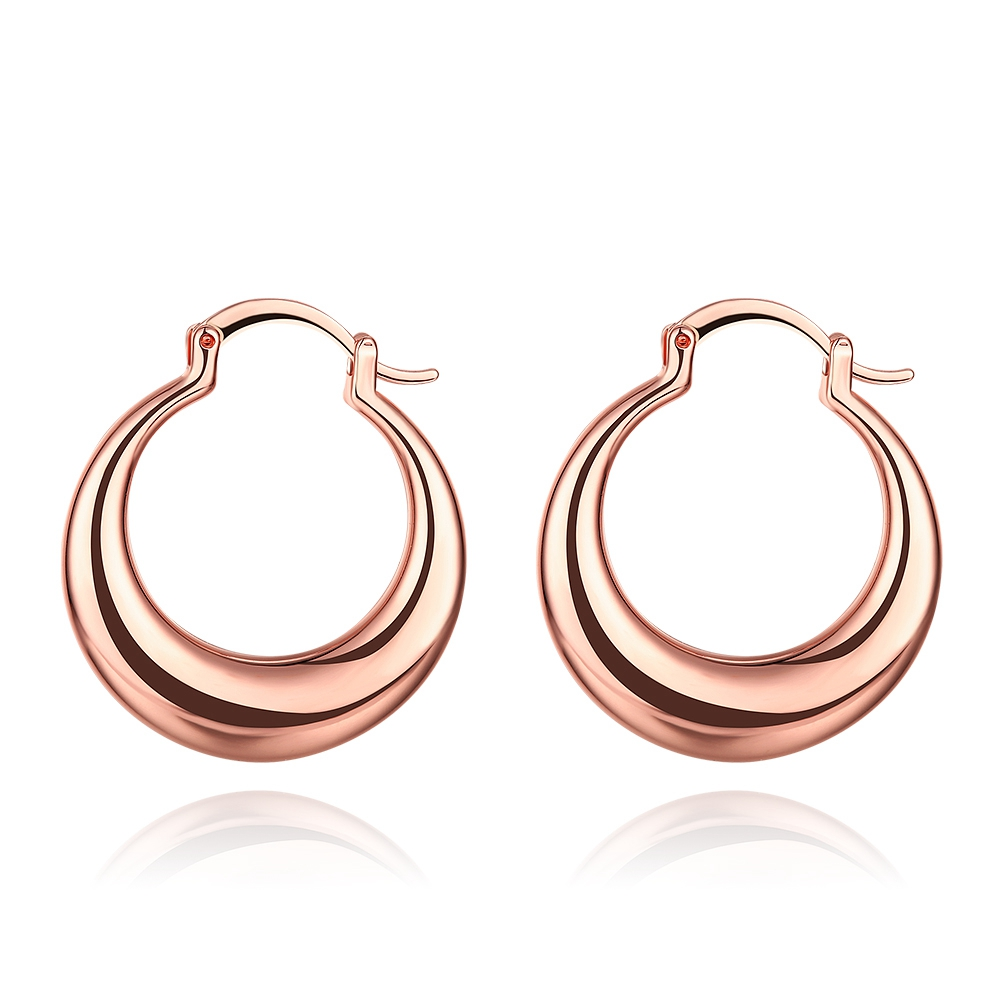 Moon Styles Earrings Basketball Wives Fashion Jewelry Wholesale Rose Gold/Gold Color Large Circle Hoop Earrings For Women Gift