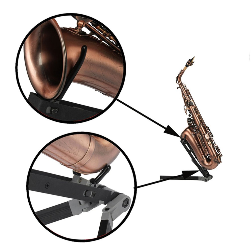 High Quality Foldable Alto Saxophone Bracket Holder Wind Instrument Stand For Oboe Flute Clarinet Sax Wind Instrument Bracket foldable portable phone flat bracket