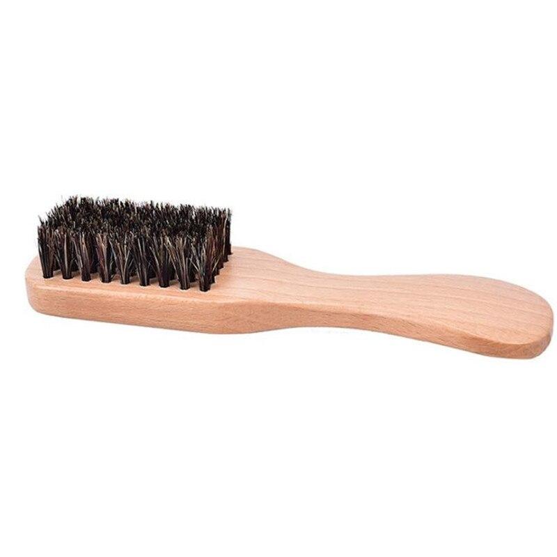 1 Pc Beard Brush Beech Handle Boar Bristle Hairbrush Anti-static Hairdressing Scalp Massage Comb 4