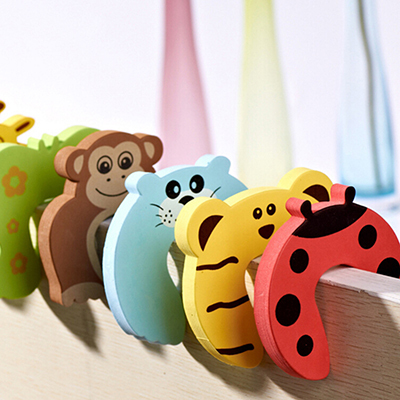 Different Design Baby Safety Door Stoppers Baby Child Edge Corner Guards Foam Door Jammer Finger Protector Stoppers 6PCS