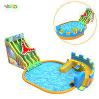 Large Inflatable Water Slide with Pool Water Park Games for Adults