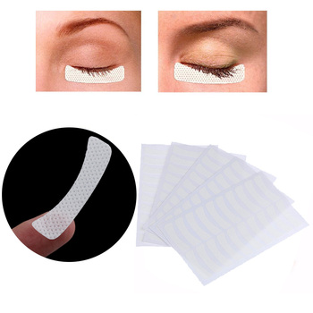 100pcs Magnetic Eyelashes White Eye Eyelash Extension Fabric Pads Stickers