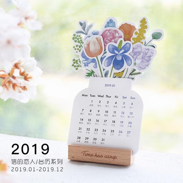 Mini Calendario.3 6 Aliexpress Com Comprar 2019 Precioso Bosque De Flores Mini Calendario De Papel De Escritorio Lista Diaria Planificador De Mesa Anual Agenda