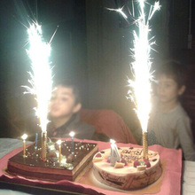 Happy Birthday Party Decoration Accessories 6 Pcs Random Cake Sparkler Candles Supplies For Kids Adult Festive