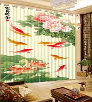Home Window Treatments 3D Blackout Curtains For Bedroom Modern Fashion Hotel Wall Drapes Tapestry