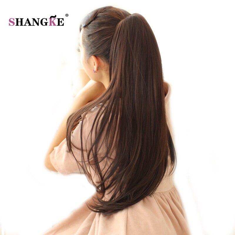 SHANGKE 24 '' Длинный прямой конский хвост - Синтетические волосы - Фотография 2