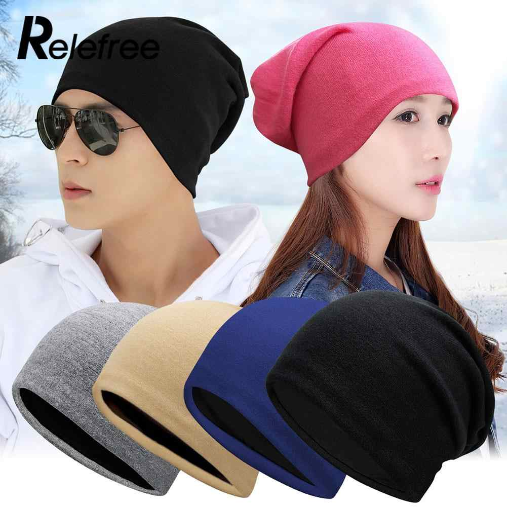 20Color Solid Knitted Cotton Hat Beanies For Adult Children Autumn Winter Warm Earmuff Crown Caps Skullies Mountaineering cap