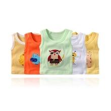 Baby T-shirt Summer Boys Girls Cartoon Kids Underwear Model Cotton Sleeveless For Children Clothing