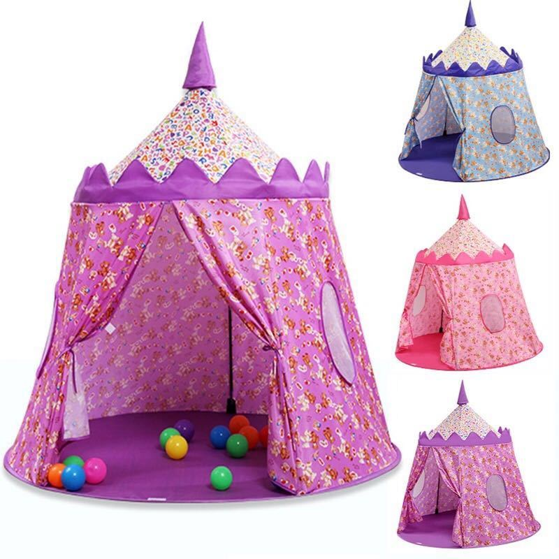 Akitoo Children's Cloth Tent Prince Princess Game Castle Game House Yurt Outdoor Indoor Crawling Folding Toy