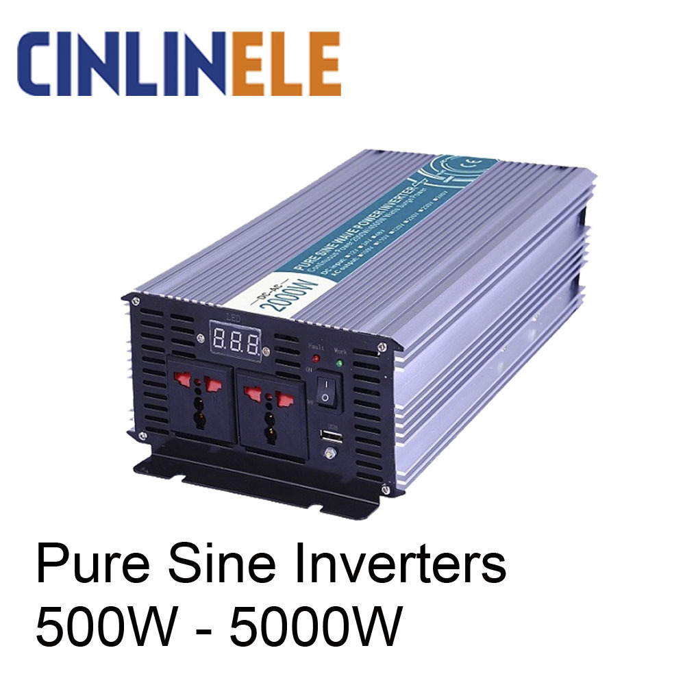 Smart Pure Sine Wave Inverter 12v 220v Solar Power 300W 500W 600W 800W 1000W 1200W 1500W 2000W 2500W 3000W 4000W 5000W 220v 300w 500w 600w 800w 1000 1200 1500 2000 2500 3000 4000 5000w kiln a1 furnace heating element coil heater wire 600c alchrome