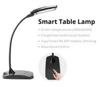 12V 6W Smart WiFi Dimming LED Desk Table Lamp With USB Charge Port Work with Alexa Google Tuya APP Voice Touch Control