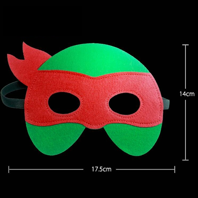 GNHYLL Ninja Turtles Mask Captain America Teenage Mutant Ninja Turtles The Avengers Kid Birthday Gift Cosplay Party Masks 5