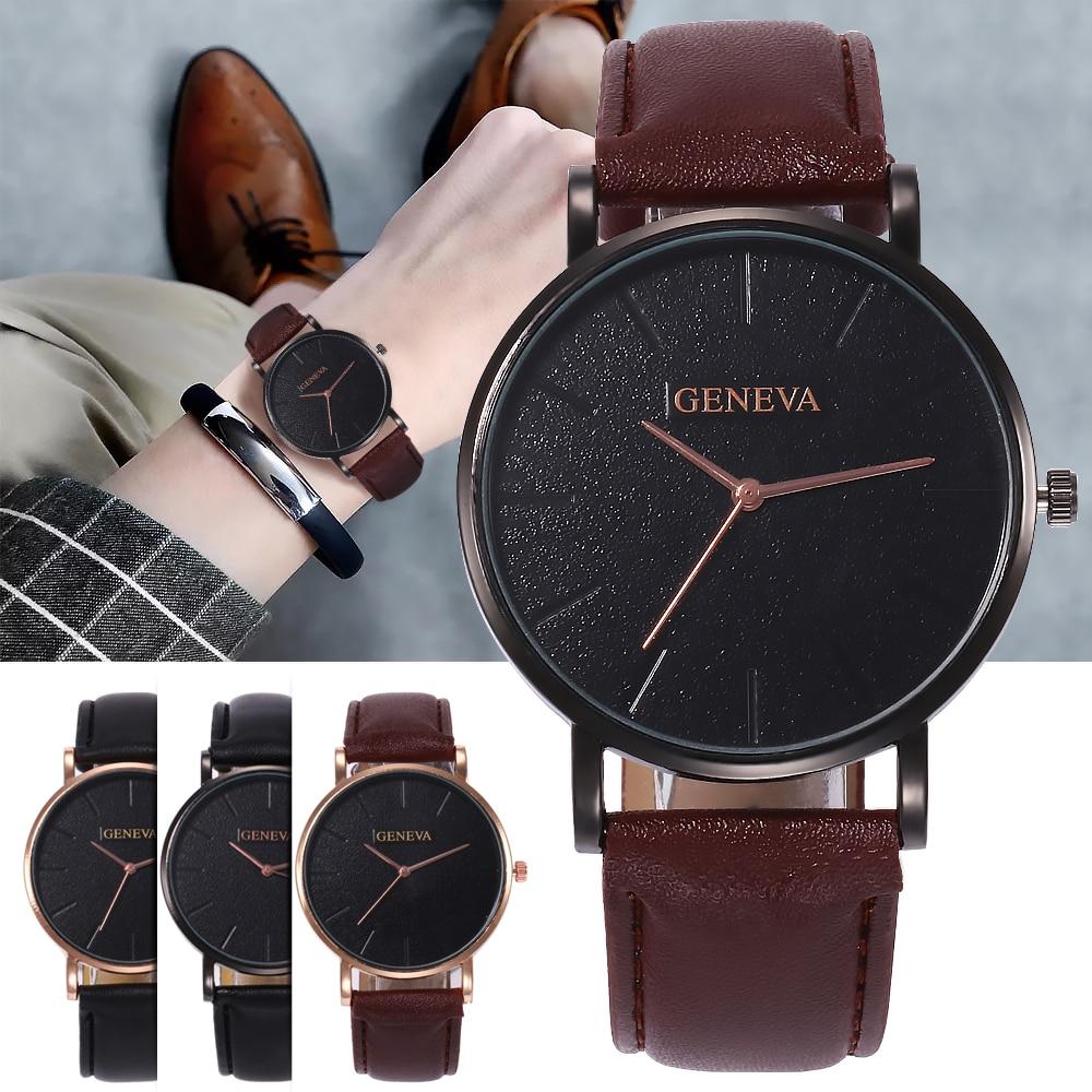 2019 Arrival Men's Watches Fashion Decorative Chronograph Clock Men Watch Sport Leather Band Wristwatch Relogio Masculino Reloj