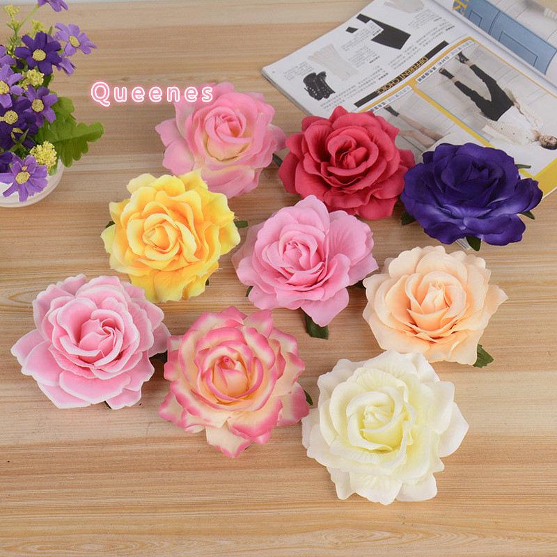 European Wedding Decoration Silk Felt Flower Bud DIY Rose Head Hair Accessories For Hat SHoes font