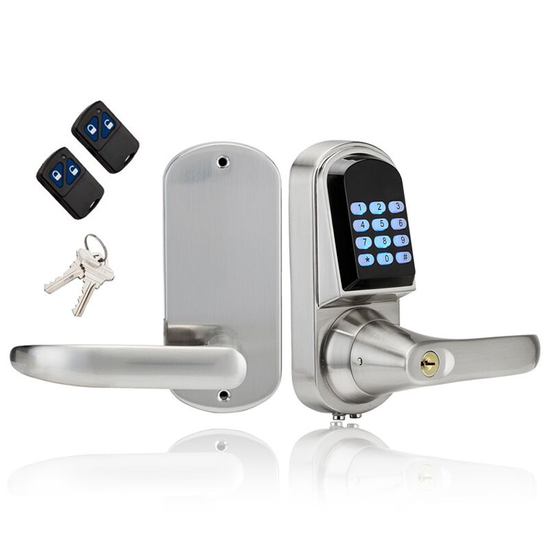 Waterproof Electronic Lock Mini Electronic Code Keypad Digital Door Lock Unlock by Code,Remote controller Mechanical Key