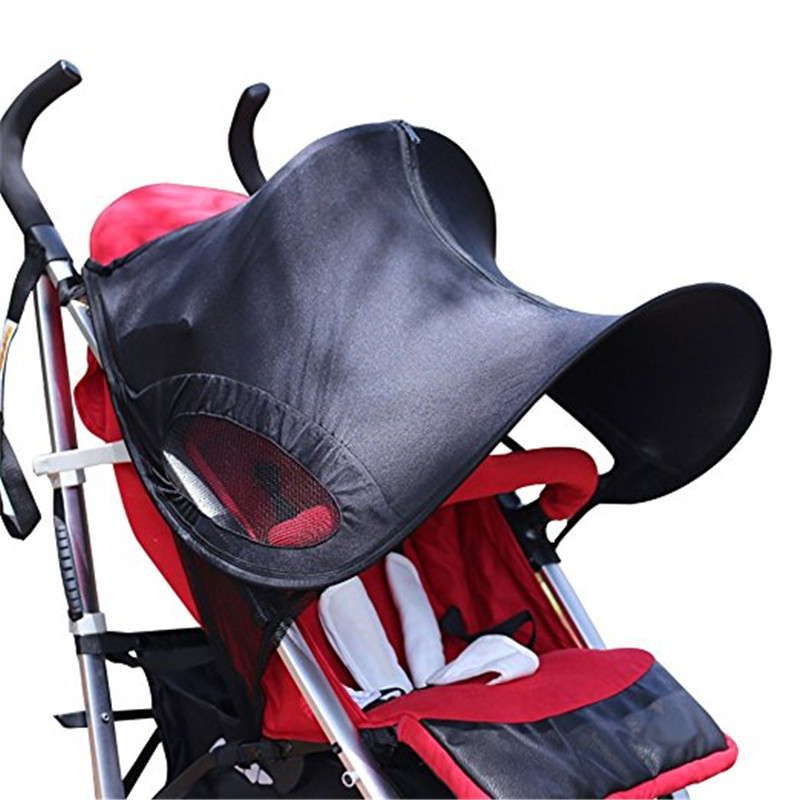 Baby Stroller Cover Sun Rain Shade Awning Waterproof Windproof Anti-UV Umbrella Canopy for Stroller Carriage Seat Covers