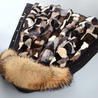 JKP new Mink fur coat fur coat long slim hooded keep warm winter plush jacket large size 5XL