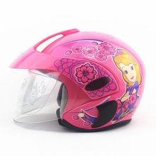 New motorcycle children helmet motorcycle half face helmet with cartoon pattern kids helmet age:2-9 size:47-53cm