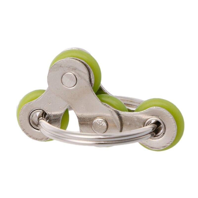 Из Металла Велосипедные цепи Пряжка брелок анти-стресс декомпрессии игрушки ручной spinner ...