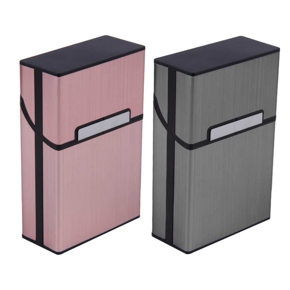 2019 Personality Creative Aluminum Smoking Cigarette Case Fashion Men Cigar Tobacco Holder Pocket Box Storage Container Gift Box
