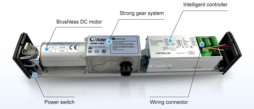 110V Low Energy ADA Swing Door Operator With Push Button (7)