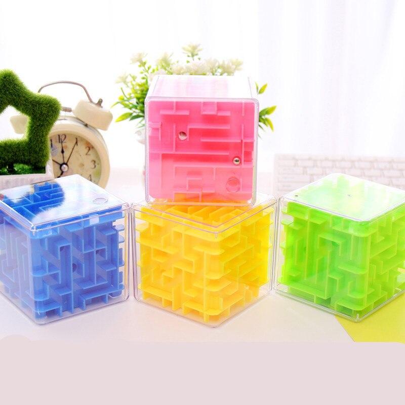 4 Colors Maze font b Magic b font font b Cube b font Puzzle 3D Mini
