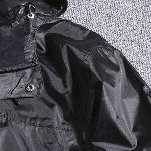 Image 3 - Chaquetas con capucha impermeable para hombre Otoño de talla grande 8XL 9XL 10XL 11XL 12XL chaqueta holgada de gran tamaño con cremallera