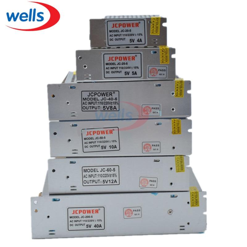 5V 12V 24V 36V 48V LED Transformer Switch Power Supply, 2A/3A/4A/5A/6A/10A/12A/20A/30A/40A/60A Power For 5V 12V 24V Led Strip