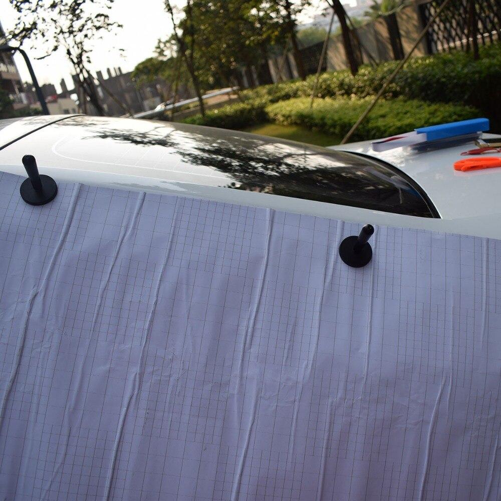 Vinyle Film voiture Wrap raclette magnétique supports laine grattoir sécurité Cutter couteau lames outils sac Automobile fenêtre teinte outils K27 - 2