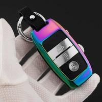 Key Cover Zinc Alloy Leather Car Keychain Case For Kia Sportage R K3 K4 K5 Ceed