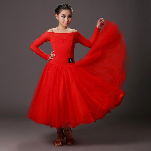In Us86 Rot Kleid Kleider Ballsaal Ballroom Mädchen Walzer Für Standard Tanzkleid Kinder 54schwarz Dance Competition 29IWYEDH