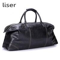 Складные сумки из натуральной кожи с натуральным лицевым покрытием для мужчин с большой емкостью Портативная сумка на плечо мужская повсед