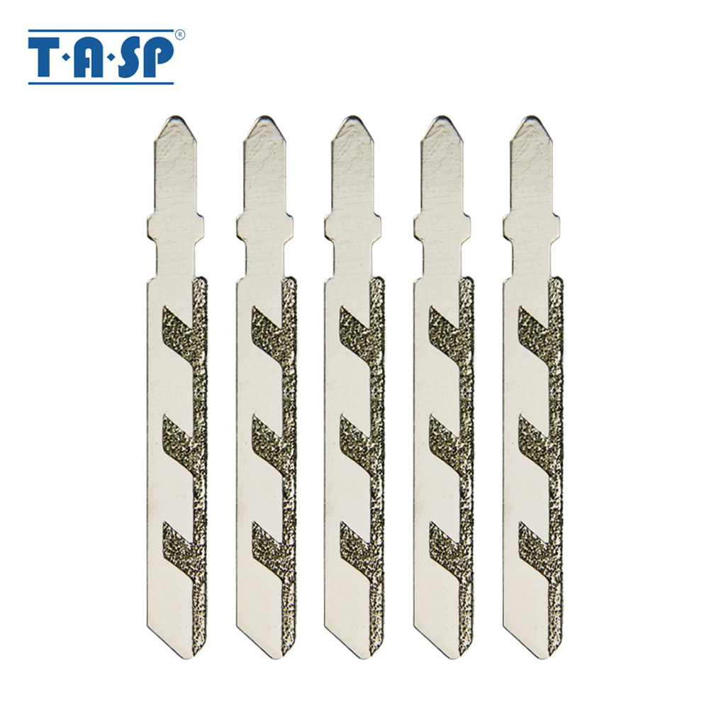 5pcs 76mm 3 Inch Diamond Coated Jig Saw Blades Tile Cutter Cutting Blade T-shank Grit 50 Power Tools Accessories