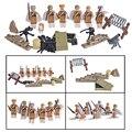 6 unids guerra mundial ii de combate militar de soldados soviéticos army corps figuras building blocks juguetes compatibles con lego