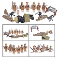 6PCS World War II Soviet Soldiers Military Fighting Army Corps figures Building Blocks Toys Compatible with Lego