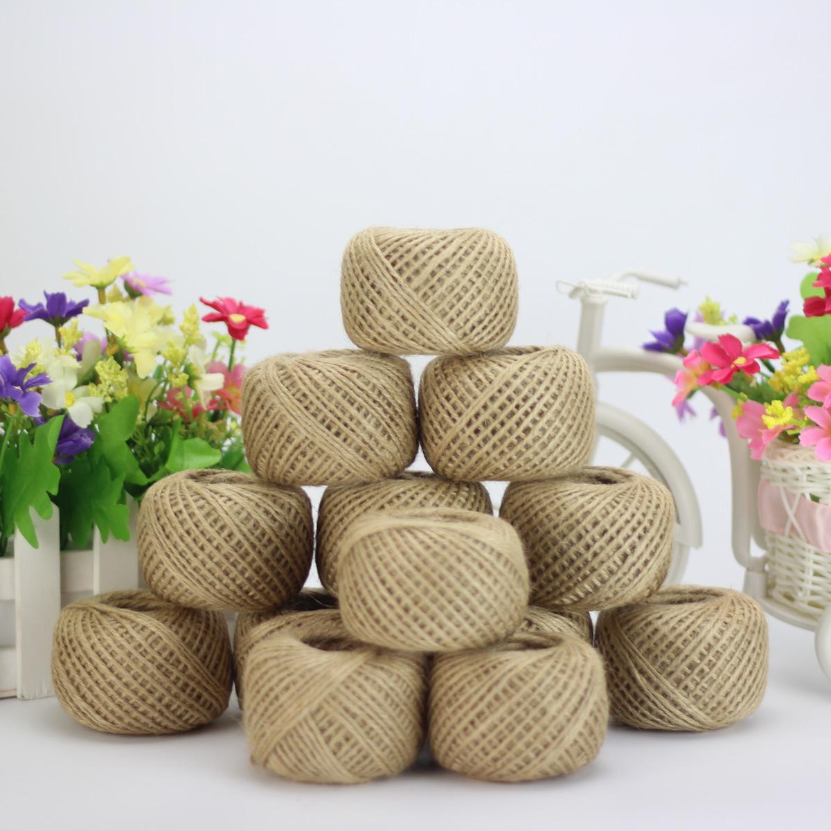 Jute Twine 30Meter Natural Sisal 2mm Rustic Tags Wrap Wedding Decoration Crafts Twisted Rope String Cord Events Party Supplies(China)