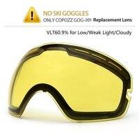 Brand Double Brightening Lens For Ski Goggles Of Model Number NCE33 For Light Tint Weak Sunlight
