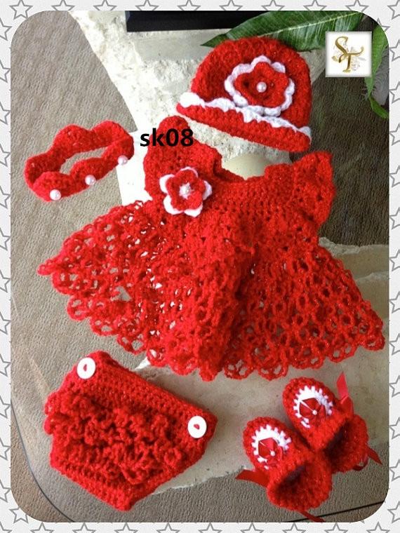 Crochet Christening Dress, Crochet Baptism Dress
