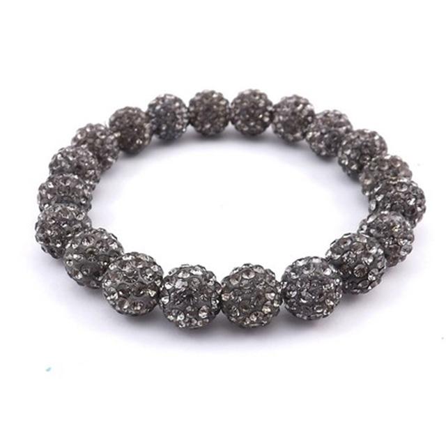 Amazing Crystal Jewelery 10mm Transpa Grey Rhinestone Disco Ball