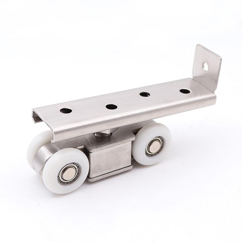 4 6 8 12 Wheels Stainless Steel Track Pulley Sliding Shower Door Rollers in Door Rollers from Home Improvement