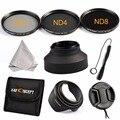 Fill Size 58mm 67mm... ND Neutral Density ND2 ND4 ND8 Lens Filter Set For CANON Rebel T5i T4i T3i EOS 700D 650D 600D 550D 70D