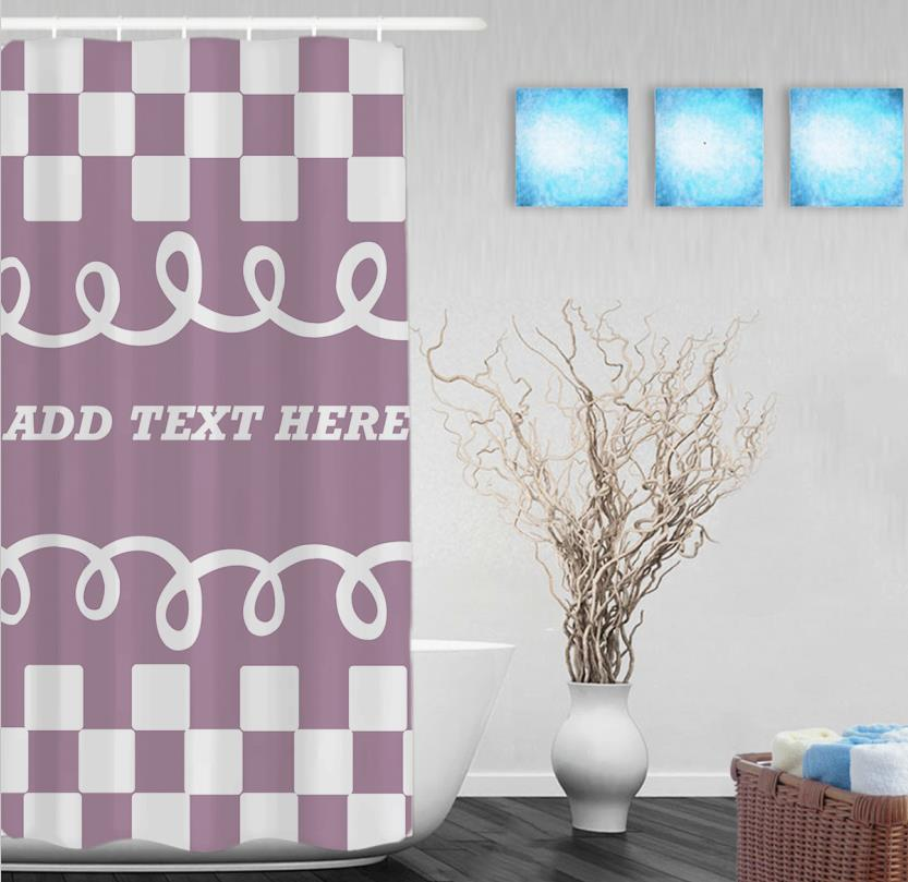 decorate blue curtain your room full shower checkered size to decorating