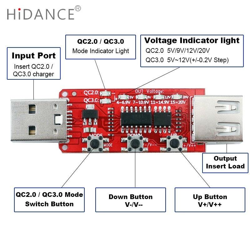 Qualcomm QC2.0 / 3.0 automaatne USB-testri mõõteriista pinge - Mõõtevahendid - Foto 3