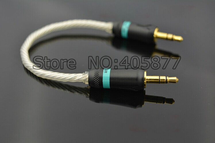 Viborg High Quality Silver Plated 5N OCC Headphone Stereo Audio Cable HIFI Record Cable viborg audio white lighting silver plated update headphone cable for hd650 hd600 hd580 hd25