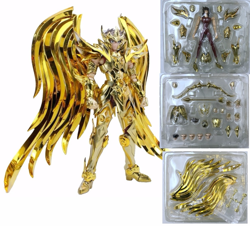 in stock Sagittarius Aiolos Divine armor Myth Cloth EX Saint Seiya SOG soul of gold GREAT TOYS  GT EX toy PayPal Payment model fans free shipping qq model sagittarius aiolos saint seiya ex 2 0 gold saint 80% metal cloth form with effects pieces