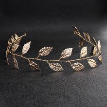 Newest Fashion Gold Leaf Headband Alloy Bride Headpiece Prom Bridal Wedding Hair Accessories Women Head Ornaments все цены