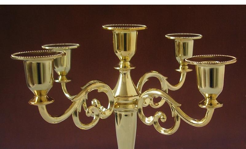 μοντέρνο χέρι 5 χρυσό κάτοχος κερί - Διακόσμηση σπιτιού - Φωτογραφία 4