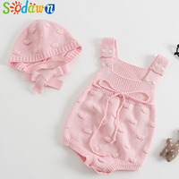 Sodawn 2018 New Spring Autumn Baby Romper Boys Girls Baby Knitted Handmade Sweater Newborn Baby Clothes